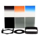 SHSYKJ06 10-in-1 3-Gradual / 3-ND Lens Filters + Ring + Mount Set for 52mm Lens Camera - Black