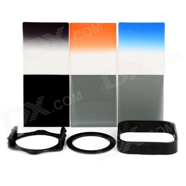 SHSYKJ05 10-in-1 3-Gradual / 3-ND Lens Filters + Ring + Mount Set for 72mm Lens Camera - Black 1 set pgy lens filters include mc uv nd4