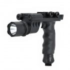 5mW Red Laser Gun Grip w/ Flashlight for 20mm Rail - Black (3 x CR123A)