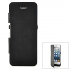 External 2800mAh Power Battery Charger PU Leather Case for iPhone 5 - Black
