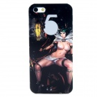 Protective Sexy Girl Pattern Back Case for Iphone 5 - Black