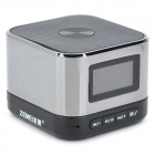 "ZEMEI V9 1.1"" LCD 3W 2-CH Wireless Bluetooth Speaker w/ TF / FM / Caller ID Display - Black + Silver"