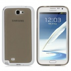 TEMEI Protective TPU Back Case for Samsung Galaxy Note II N7100 - Grey + White