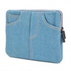 Protective Jeans Style Sleeve Pouch for the New Ipad - Pigeon Blue