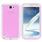 TEMEI Protective TPU Back Case for Samsung Galaxy Note II N7100 - Light Purple + White