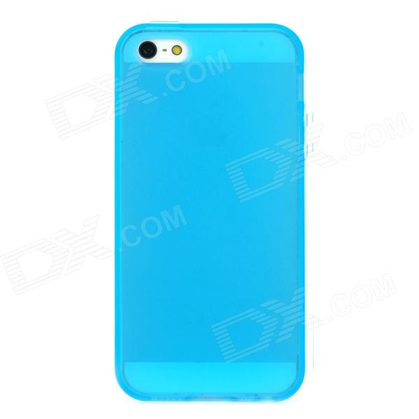 Protective TPU Back Case for Iphone 5 - Blue