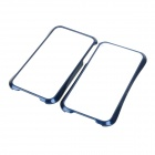 NEWTOP 01 Protective Plastic Bumper Frame for Iphone 4 / 4S - Deep Blue