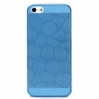 Grid Pattern Protective PVC Back Case for Iphone 5 - Blue
