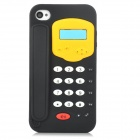 DH-4 Telephone Style Pattern Protective Silicone Back Case for Iphone 4 / 4S - Black