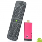 GV07IIT Android 4.1.1 Google TV Player w / 1GB RAM, 8GB ROM, 2.0MP Kamera + RC11 Air Mouse - Red