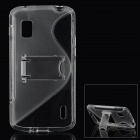 Protective Plastic Back Case w/ Stand for LG E960 / Nexus 4 - Transparent