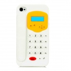 Telephone Shape Protective Soft Silicone Case for Iphone 4 / 4S - White