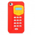 Telephone Shape Protective Soft Silicone Case for Iphone 4 / 4S - Red