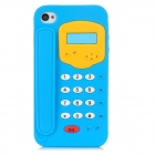 Telephone Shape Protective Soft Silicone Case for Iphone 4 / 4S - Blue