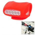 Bright 5-LED 3-Mode Red Safety Rear Light for Bike - Red (3 x AAA)