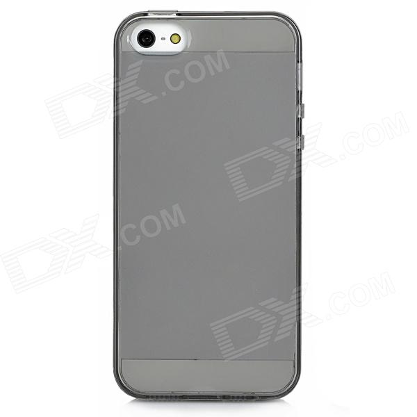 Protective TPU Soft Silicone Case for Iphone 5 - Transparent Black protective silicone case for iphone 5 transparent grey