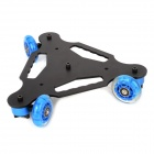 YE 5d2 Super Mute 3-Wheel Truck Dolly Slider Skater for DSLR Camera - Black