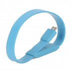 HY-012 Micro USB Male to USB Male Bracelet Style Charging Cable for Samsung N7100 + More - Deep Blue