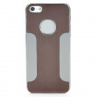 Protective Aluminum Alloy Wiredrawing Case for iPhone 5 - Brown