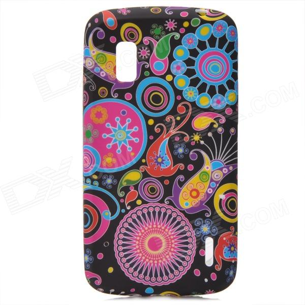 Protective Jellyfish Pattern Silicone Back Case for LG E960 Nexus 4 - Multicolored protective silicone back case for lg nexus 4 e960 purple