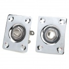 Iron Cable Connection Square Plugs for Electric Guitar / Bass Guitar - Silver (2 PCS)
