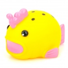 1012 Cute Princess Fish Shape Color Light Bathing Toy for Kids - Yellow