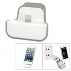USB to Apple Lightning 8-Pin EU Plug Power Adapter Wall Charger Dock for iPhone 5 - White
