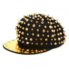Nail Shape Fashionable Snapback Polyester + Cotton Cap for Woman - Black + Golden