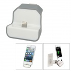 USB to Apple Lightning 8-Pin US Plug Power Adapter Wall Charger Dock for iPhone 5 - White
