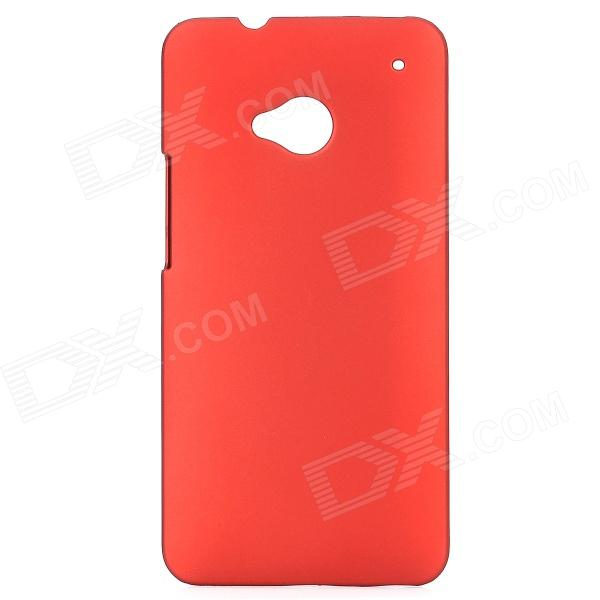 Protective Matt Back Case for HTC One M7 - Red
