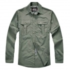 Outdoor Quick Dry Long Sleeves Shirt for Men - Army Green (Size-L)