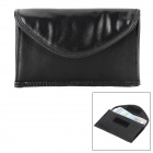 PB-03 Anti Radiation Handset Function PU Leather Bag for Cellphone - Black