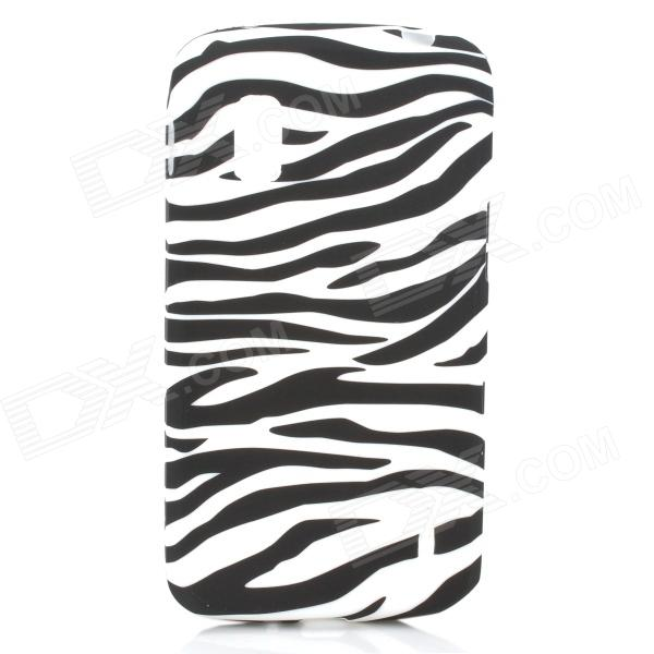 Protective Zebra Grain Silicone Back Case for LG E960 Nexus 4 - White + Black protective silicone back case for lg nexus 4 e960 purple