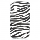 Protective Zebra Grain Silicone Back Case for LG E960 Nexus 4 - White + Black