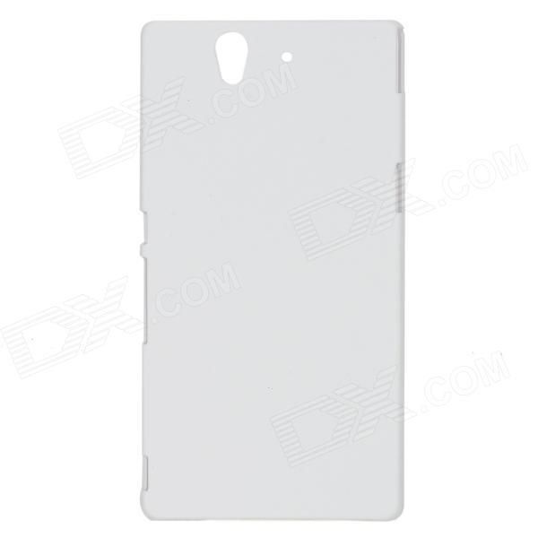 все цены на Protective Matte PC Back Case for Sony Xperia Z / L36H / C6603 - Milky White онлайн