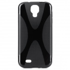 Protective TPU Back Case for Samsung Galaxy S4 i9500 - Black