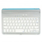 BT20730 Wireless BluetoothV3.0 59 Keys Keyboard for iPad Mini - White + Silver + Blue