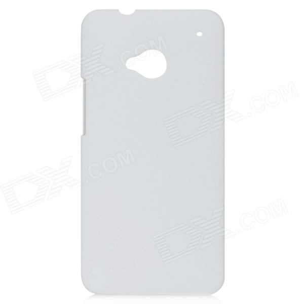 Protective Frosted Plastic Back Case for HTC One / M7 - White