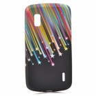 Protective Colorful Meteor Pattern Silicone Back Case for LG E960 Nexus 4 - Black + Colorful