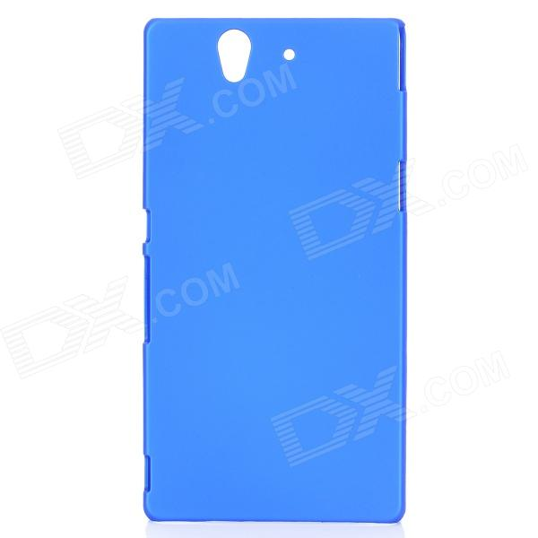 все цены на Protective Matt Back Case Cover for Sony Xperia Z / L36H / C6603 - Blue онлайн