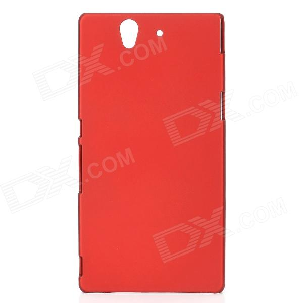 все цены на Protective PC Matter Back Case for Sony Xperia Z/L36H/C6603 - Red онлайн