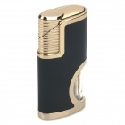 581 Aluminum Alloy Windproof Butane Gas Lighter - Black
