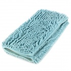 JiaLePi DT159 Microfiber Plush Water Absorption Non-Slip Floor Mat for Bathroom Doorway - Blue-Green