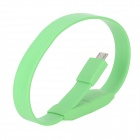 HY-012 Micro USB Male to USB Male Bracelet Style Data Cable for Samsung N7100 + More - Lime Green