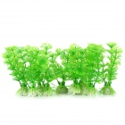 E5XY Aquarium / Fish Tank Simulation / Artificial Water Plants Grass - Green + White (10 PCS)