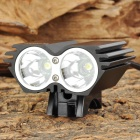 RUSTU DB-200 870lm 4-Mode White Bicycle Light w/ 2 x Cree XM-L T6 - Black (4 x 18650)