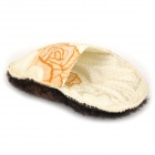 Megatop 0303 Schuh Reinigung Wool + Cotton Glove - Brown + Beige + Orange