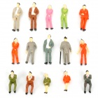 1:43Scale Plastic Painted People Figures Model - Multicolored (100 PCS)