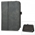 Lychee Pattern Protective PU Leather Case for Samsung N5100 - Black
