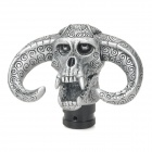 Personalized Ox Head Skull Shape Resin Gear Shift Knob - Silver